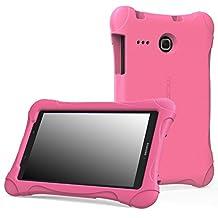 MoKo Samsung Galaxy Tab E 8.0 Case - Kids Friendly Ultra Light Weight Shock Proof Super Protective Cover Case for Samsung Galaxy Tab E 8.0 Inch Tablet, MAGENTA