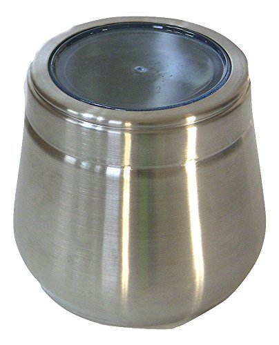 Qualways Stainless Steel Large Belly Tin, 2 LB Stainless Steel (See Thru Bins Toy Box)