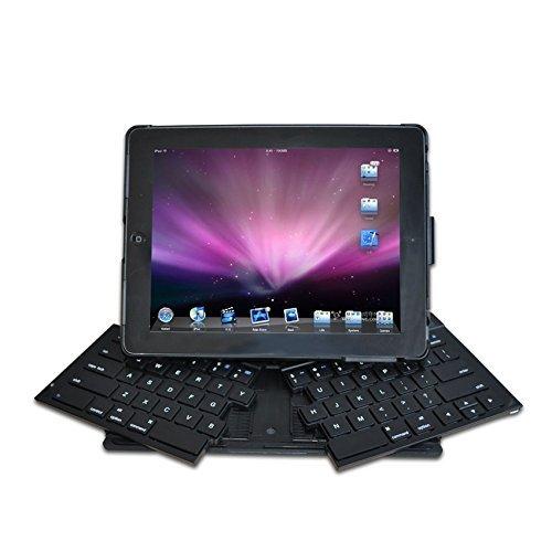 Ipega PG-IP099 Portable Wireless Foldable Bluetooth Keyboard With Detachable Phone Handset For Ipad 2 3 4 new ipad black