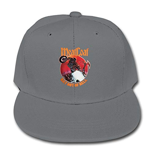 (LWOSD Child Baseball Hat, Meat Loaf Band Bat Out of Hell Plain Cotton Baseball Cap Sun Protect Ajustable Hats for Boys Girls Gray )