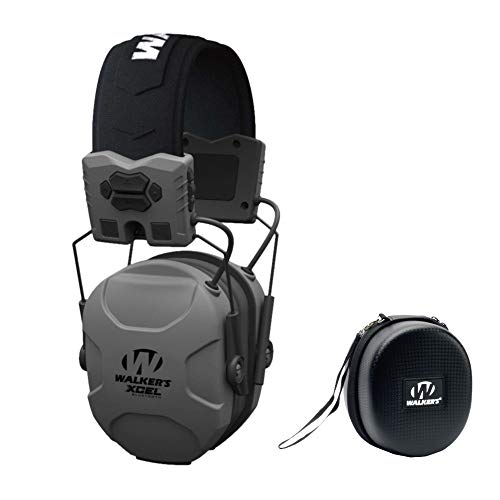 - Walkers XCEL 500BT Digital Electronic Hearing Protection Muff (Bluetooth and Voice Clarity) with Protective Case Kit