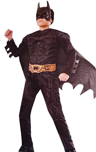 Black Batman Costumes Child (Boys Batman The Dark Knight Costume Small 4-6)