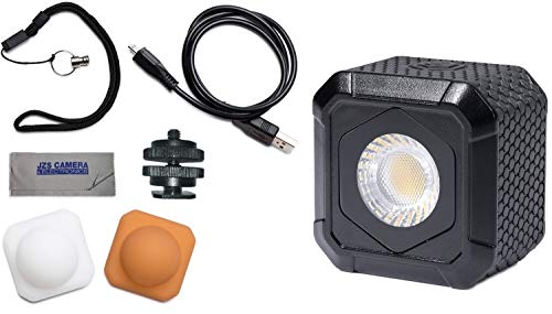 - Lume Cube AIR Waterproof Compact LED Light for Photo, Video, GoPro, Smartphones + Metal Locking Foot & Cleaning Cloth Kit
