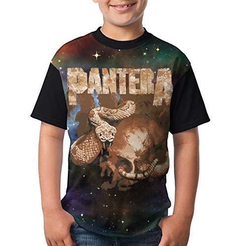 - LixuA Pantera Rattler Skull Boys' Short Sleeve Tee Black