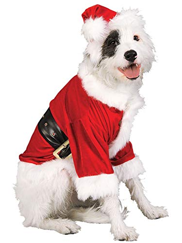 Rubie's Christmas Pet Costume, Santa Claus, Large -