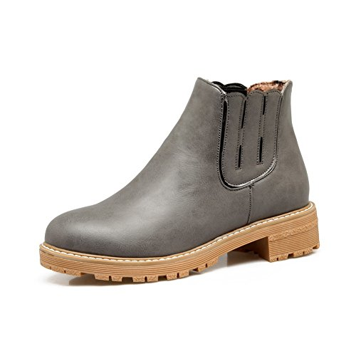 BalaMasa Womens Casual Slip-Resistant Comfort Urethane Boots ABL10334 Gray