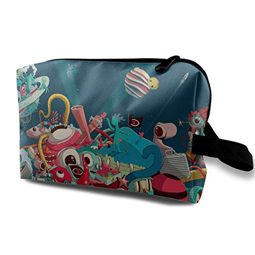 Halloween Characters Cartoon Multi-function Travel Makeup Toiletry Coin Bag Case]()