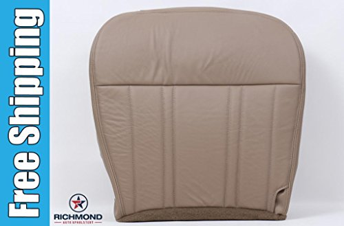 1997-1998 Ford F-150 Lariat Driver Side Bottom Replacement Leather Seat Cover, Tan