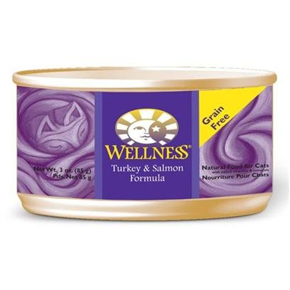 Wellpet Wellness Canned Cat Food Turkey and Salmon Recipe 5.5oz cans – case of 24 Canned Food, My Pet Supplies