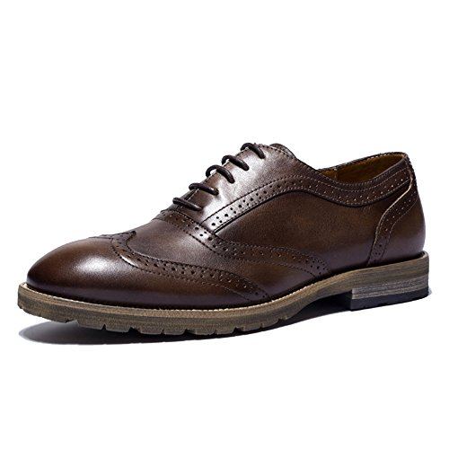 Brown Work Completo Da Formale Oxford Dresser Office Per Pelle Party Wingtip In Vera Evening Uomo Spectator Vestito MERRYHE TZdSqwZ