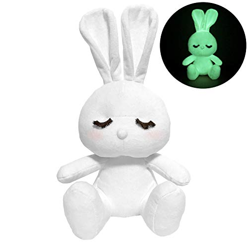 Forestar Glow in The Dark Plush Bunny | Super Cute Glow Stuffed Rabbit | Top Magic Gift for Baby Kids Toddlers Boys Girls Friends | 13''×7'' White Washable Glow to -