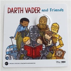(NEW EXCLUSIVE SDCC 2015 DARTH VADER AND FRIENDS Collectible Pinback Buttons Pack)