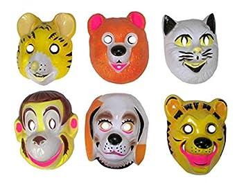 Lote/Conjunto de 6 Piezas - Máscara de Animales Casco mezclan 5-Infantil