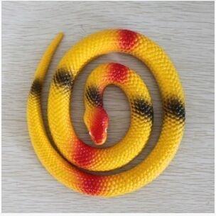 Mocase Halloween Prank Rubber Replica Colored Snake 25'' Halloween Prop Costume -