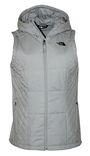 The North Face Womens Jordannha Hooded Vest Lunar Ice Grey -