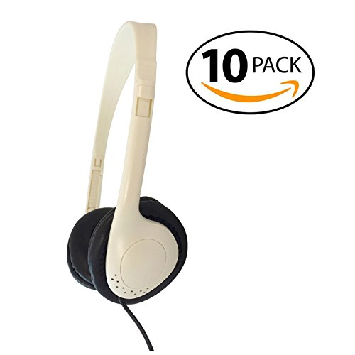 Soundnetic Budget Stereo Headphones with Leatherette Pads - 10 Pack by Soundnetic