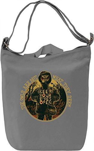 Keep your eyes open Borsa Giornaliera Canvas Canvas Day Bag  100% Premium Cotton Canvas  DTG Printing 