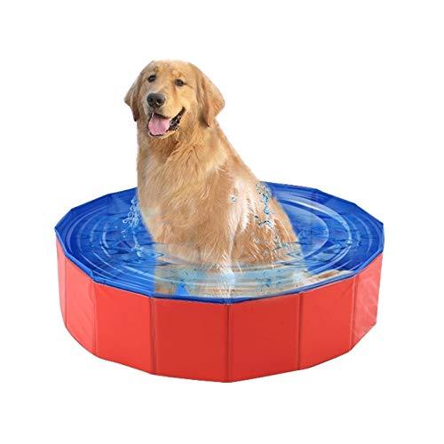 VAXT Diameter:80cm Highschool:30cm, Pet Products Foldaway Declamatory Swimming Pool Bathtub for Dog and Cat Teddy