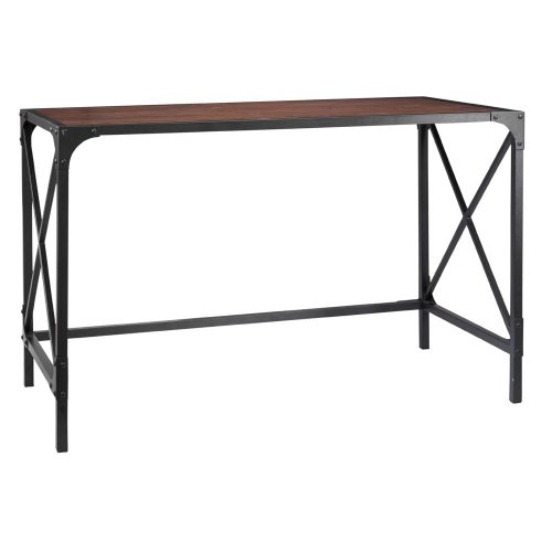 Industrial Empire Computer Desk, 30 HX49 HX25 D, BLACK