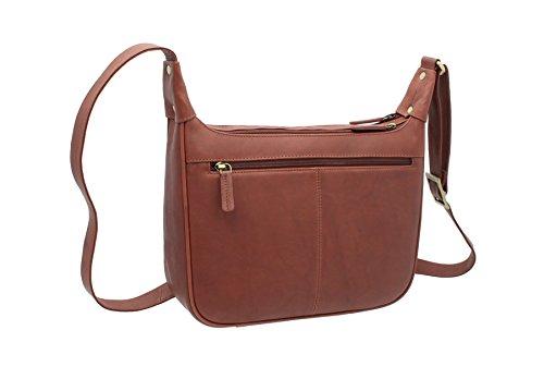Visconti Bolso de Mano de Cuero Estilo 03189 Arena marrón - marrón