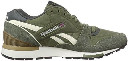 Reebok Herren GL 6000 ND Laufschuhe Grün (Canopy Green/Dk Sage/Creamwht/Sepia/Chalk/Blk)