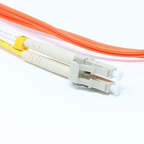 10 Meter Multimode Duplex Fiber Optic Cable (50/125) - LC to LC - Orange
