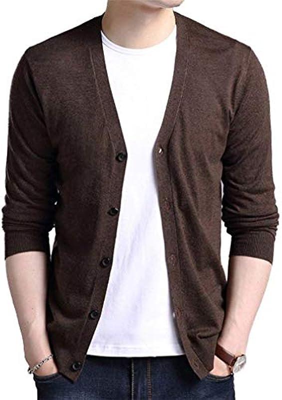 Męski casual długi rękaw Outerwear Knit V Neck sweter wygodny rozmiar bluza wiosna jesień płaszcz dziany kurtka ubranie: Odzież