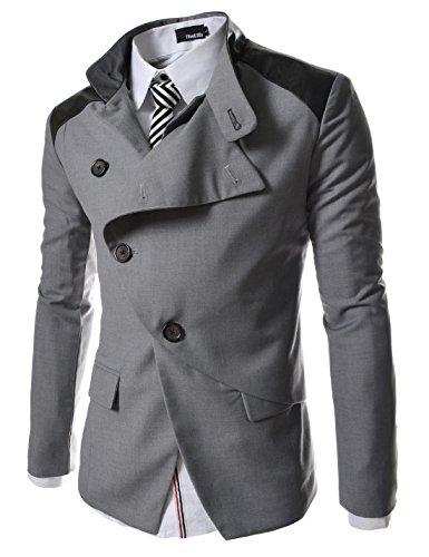 HBJ TheLees Mens casual china collar rider style slim Jacket