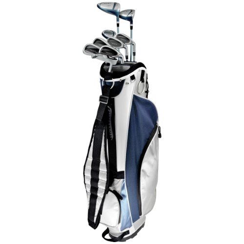 KNIGHT Women's Tec+ Golf Club Complete Set (Right Hand, Ladies Flex, Graphite Hybrids with Steel Irons Driver, Fairway Wood, Hybrid, 6-PW, Putter, Cart Bag)
