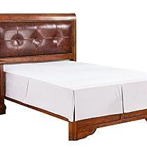 Microfiber Bed Skirt Cotton, Sateen Pleated Bed Skirt DustRuffles Dust Ruffles, 15 inch Drop