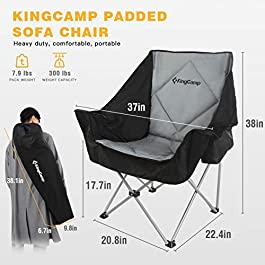 KingCamp Folding Inflatable Sofa Chair Support Up to 660 lbs-Waterproof and Portable Air Sofa for Garden Outdoor Travel Camping Picnic Or Indoor Furniture