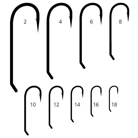 Mustad STREAMER Signature Fly Hooks Size 12 25ct - R73NPBR12