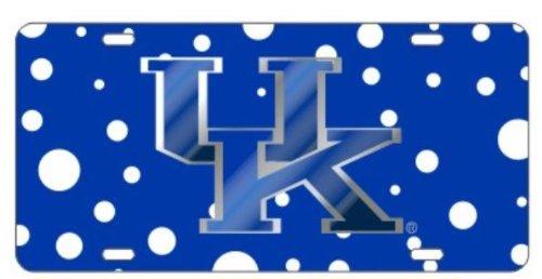 Polka Dot Kentucky Wildcats Mirrored Car Tag - UK License Plate