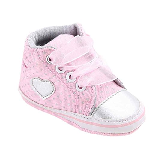 b74f55b50f142 Voberry Baby Girls Toddler Lace up Sneaker Anti-slip Boots Crib Shoes (0~ 6Month