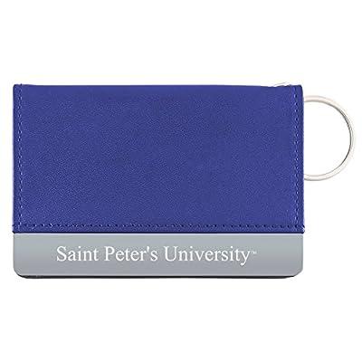 Saint Peter's University - Leather ID Holder - Blue