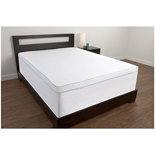 Price comparison product image Comfort Revolution Topper Cover For 1.5-4 Memory Foam Bed Toppers,  Queen