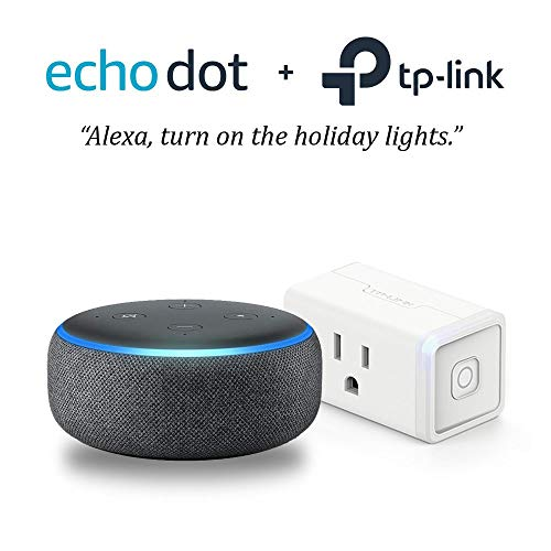 Echo Dot (3rd Gen) - Charcoal with TP-Link Smart Plug Mini