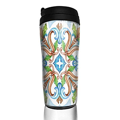 coffee cups with lids 16 oz watercolor illustration abstract decorative background vintage pattern medieval acanthus ceramic tile ornament kaleidoscope mandala4 12 oz,coffee cup for grandpa