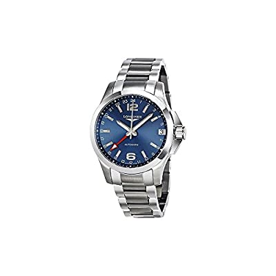 Longines L36874996 Conqest Gmt Automatic Mens Watch - Blue Dial