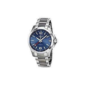 Longines L36874996 Conqest Gmt Automatic Mens Watch - Blue Dial