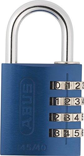 Abus 488078  Zahlenschloss  145/40, blau, Aluminium