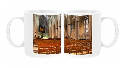 Photo Mug of The nave of York Minster, one of the finest examples of Gothic architecture in