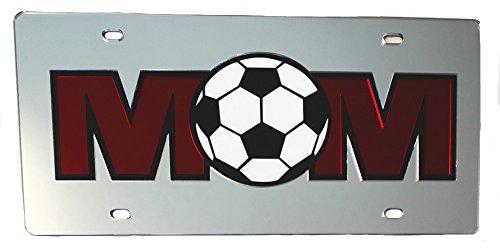 Soccer Mom Mirrored Acrylic Car Tag (Soccer Mom License Plate)