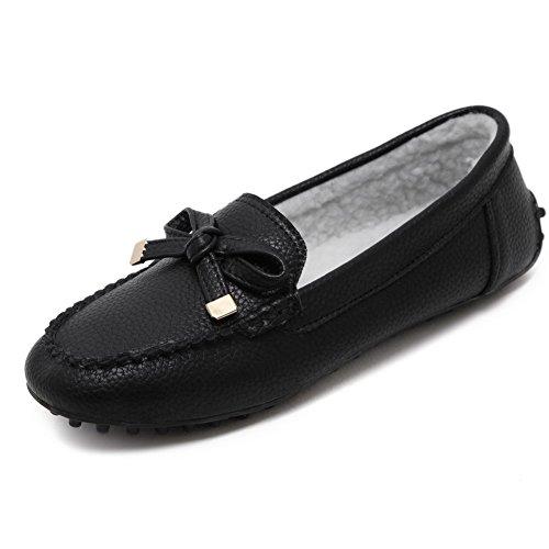 Aalardom Womens Talon Bout À Bout En Matériaux Mélangés Pompes-chaussures Noir