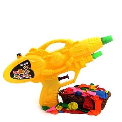 Buy Robotic Holi Water Gun With Basket Of Water Balloons For Kids