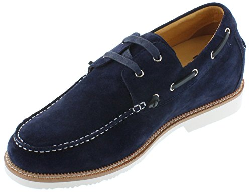 Navy Blue TOTO Taller D22711 2 Lightweight Casual Elevator inches Shoes Increasing Shoes 8 Height 1azqv