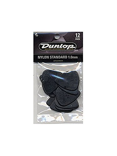 (Jim Dunlop: Nylon Standard 1.00mm Plectrum (12 Pack). For Guitar)