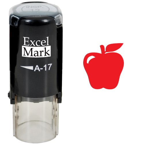 Best Teacher Apple - Apple - ExcelMark Self-Inking Round Teacher Stamp - Red Ink