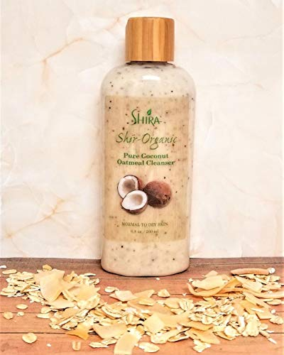Shira Shir-Organic Pure Coconut Oatmeal Cleanser For Normal To Dry Skin Removes Dead Skin Cells And Provide Nourished…