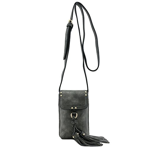 Phone Crossbody Tassel Pewter Accent Bag Cell with OwU5d6nq